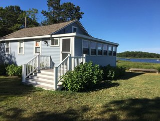 Waterfront cottage with stunning views on tidal Weweantic River