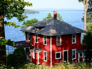 Historic Waterfront Winnipesaukee Cottage w/ Best Views of the Lake