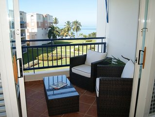 Beachfront penthouse at Haciendas Del Club, WiFi, Golf, Pool, Beach, sleeps 6