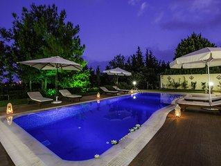 Rhodes Luxury Kallithea Breeze Villa with Ozone Pool & Private small Forest!