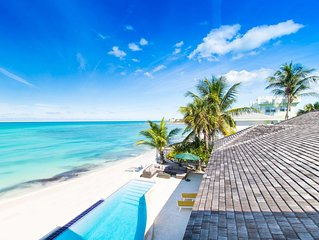 NO HURRICANE DAMAGE: Luxury Beach Villa & Guesthouse w. Pool, Private Beach 6 BR
