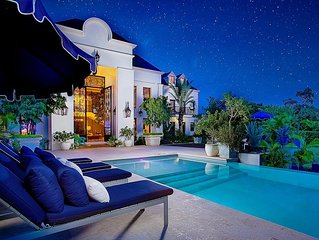 French-Inspired Modern Villa, Private Swimming Pool and Loungers, Alfresco Dinin