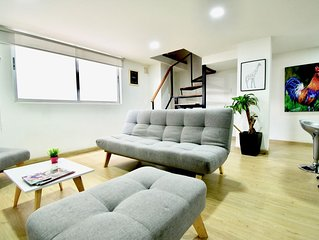 NEW! MODERN  & LUMINOUS DUPLEX  2BEDS / CHAPINERO