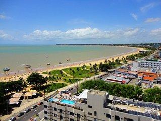 Apartamento Beira-Mar, Praia de Tambau para 10 pessoas