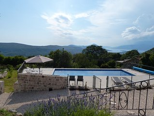 Spacious and recently renovated stone house with swimming pool and stunning view