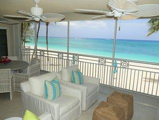 Gorgeous 4 Bedroom Oceanfront Condo on Seven Mile Beach