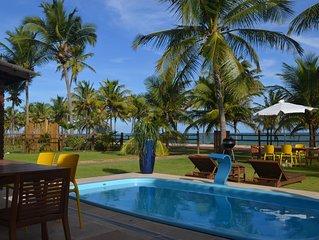 Na areia da praia Condominio Paraiso, melhor localizacao! Wifi e Sky - 5 suites