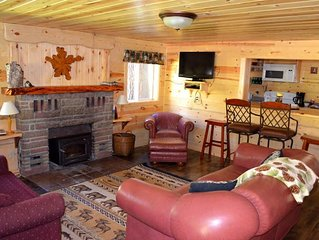 A 2 bedroom, 2 bath cabin full of beauty and custom-built character