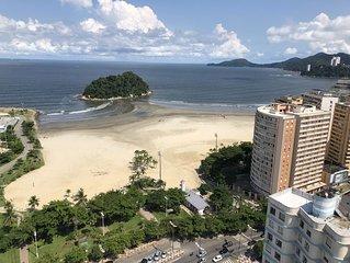 Santos  pé na areia- Praia José Menino APTO  DECORADO