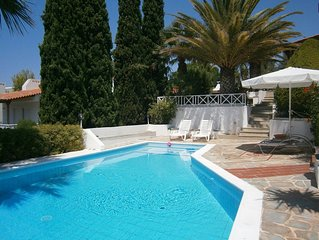 Seaview Villa Angelina with private pool and top floor studio
