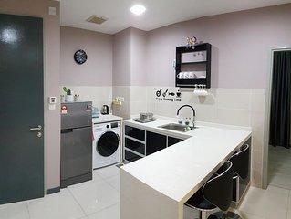 Sutera Avenue*[JiYun*吉云] # New & Modern homestay# 2bedr#up to 10pax#city centre