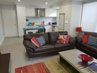 Secrets Beach Retreat Mullaloo. Beach front house, step out and on to the beach.