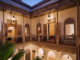 Exclusive rental - Authentic 4 bedroom riad, fully staffed, with pool & hammam
