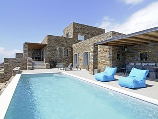 Unlimited views to the greatness of the Aegean Sea - Stunning Villa in Tinos