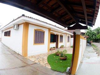 Casa Praia das Toninhas  4 quartos com ar condicionado- Ubatuba