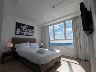 1 bedroom sea view appartement located in the tel aviv promenade-sea hotel