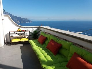 Sun-Soaked Private View Terrace! Most Affordable in Amalfi!  BOOK now!