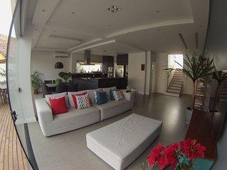 Casa Nova na Lagoa, 3QTO,3BWC,Wi-fi,NET,Cama Elástica4m, 4km/praia mole,joaquina