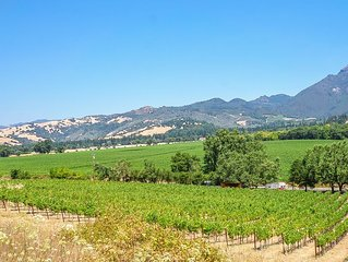 Calistoga Vineyard Getaway- Spectacular Vineyard and Mountain Views