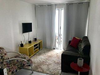 Lindo e aconchegante apartamento em Tambau