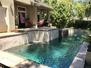 POOL  -spa   Resort life on the  Sacramento River levee sleeps 8 plus  Luxury