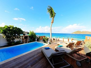 Beachfront Villa with Private Pool, Short Walk to the Beach, Hotels and Restaura