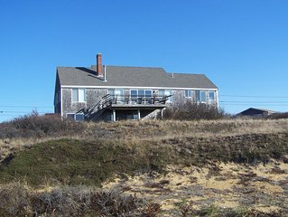 Sweeping Water View from Airy Dune Top Home with Private Sandy Beach