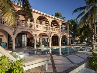Luxurious Beachfront Villa w/ Pool, Fountain, Dock, & Cook!