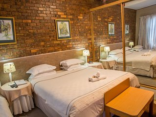 Spacious, comfortable Rooms all have private entrances and en-suite bathrooms.