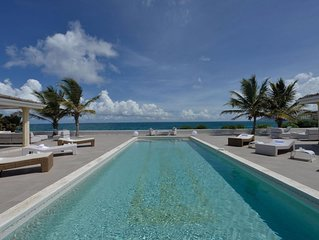 Beachfront European Styled Villa, LED Colored Pool, Jacuzzi, Massage Room and Me