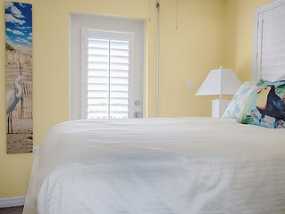 Cheerful upstairs unit just steps from  famous Cocoa Beach.