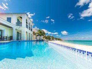 NO HURRICANE DAMAGE: Luxury Private Villa Beachfront - Infinity Pool Panoramic