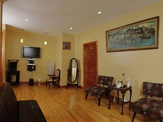 Individually styled apartment 45 minutes to Manhattan.  Corp/Long-term welcome!