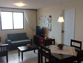 Lindo! Mobiliado, 02 qtos de casal, com vista privilegiada de Fortaleza.