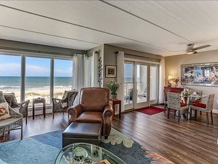 Completely Renovated, oceanfront, absolutely beautiful condo just steps to beach