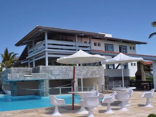 Casa de Praia Beija-Flor na Praia das Fontes: 7 suites, incl. caseiros, internet