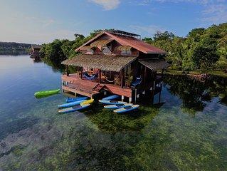 Eco Aqua Over-The-Water Villa Located In Dolphin Bay, Bocas Del Toro, Panama