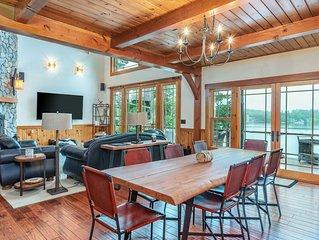 Upscale Lake WInnipesaukee home with stunning views and boat dock