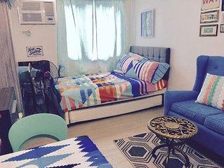 Cozy and chic condo studio in Quezon City