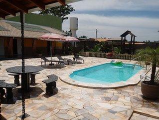 Chacara Estancia 3J, 4 quartos tds suites com ar condicionado,  WIFI,