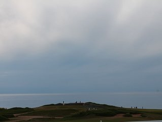WATER VIEWS combined witH OVERLOOKING and BORDERING Cabot Links!
