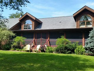 5 Bedroom Heritage Log Home in Harbor Country - Perfect for Large Groups