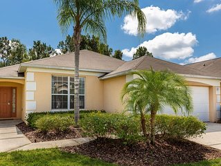 Come and getaway to this 4 bedroom pool home with your family, close to Disney!