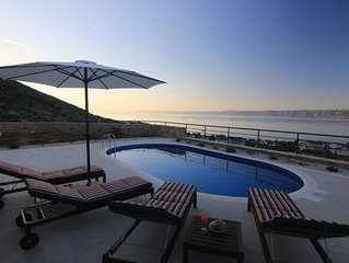 Beautiful villa with the best sea view and heated pool in Bol