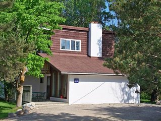 4 bdrm Cottage  at Blue Mountain, Hot Tub & Sauna, great backyard, Private Beach