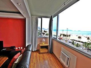 Incrivel apartamento para ate 11 pessoas vista frontal panoramica Copacabana