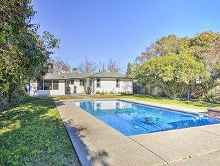 Central Sacramento Home w/Pool - Mins to Downtown!