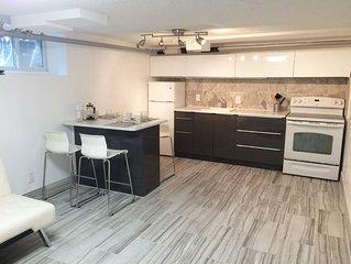 Bright, All New Modern Semi Basement Apartment