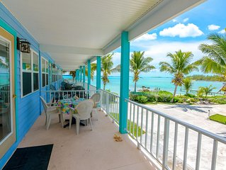 Large BEACHFRONT house with 2 master suites and ocean view.