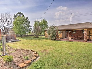 Tulsa Home on 1.5 Acres w/Deck~15 Mins to Downtown
